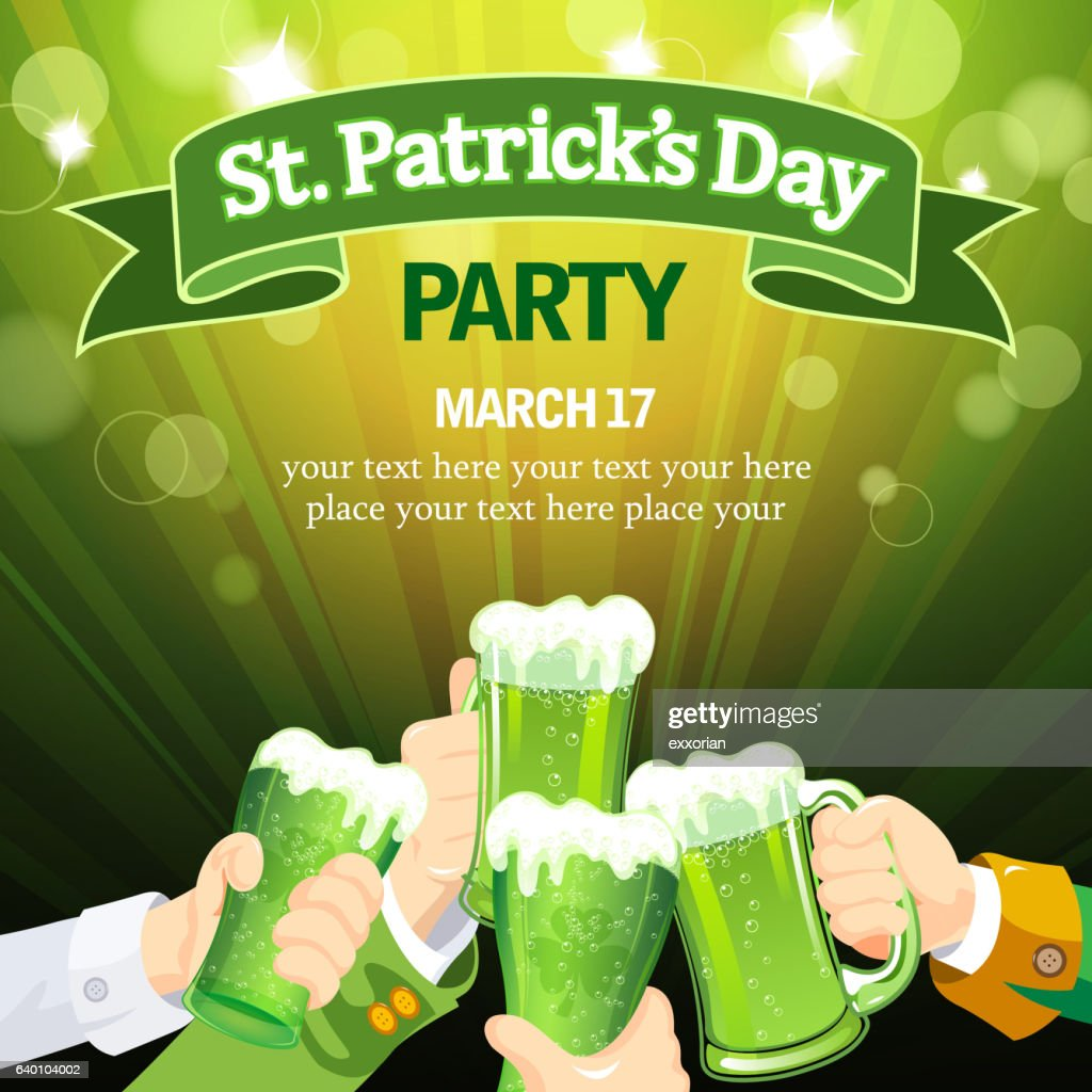 St Patrick's Day cheer party