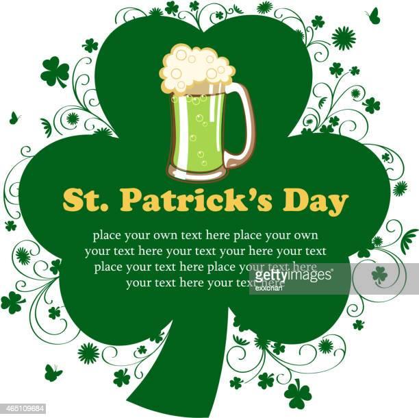 St Patrick's Day Clover Leaf Notice