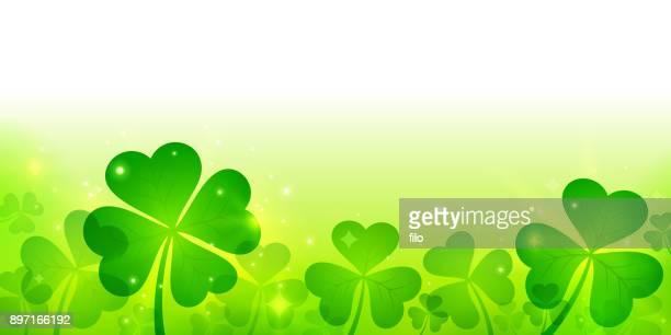 St Patrick's Day Clover Shamrock Background