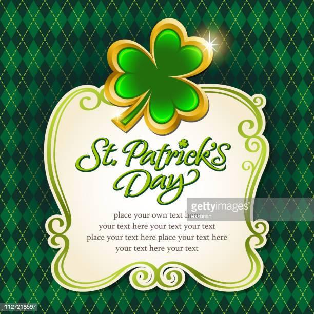 St. Patrick's Day Golden Clover Frame