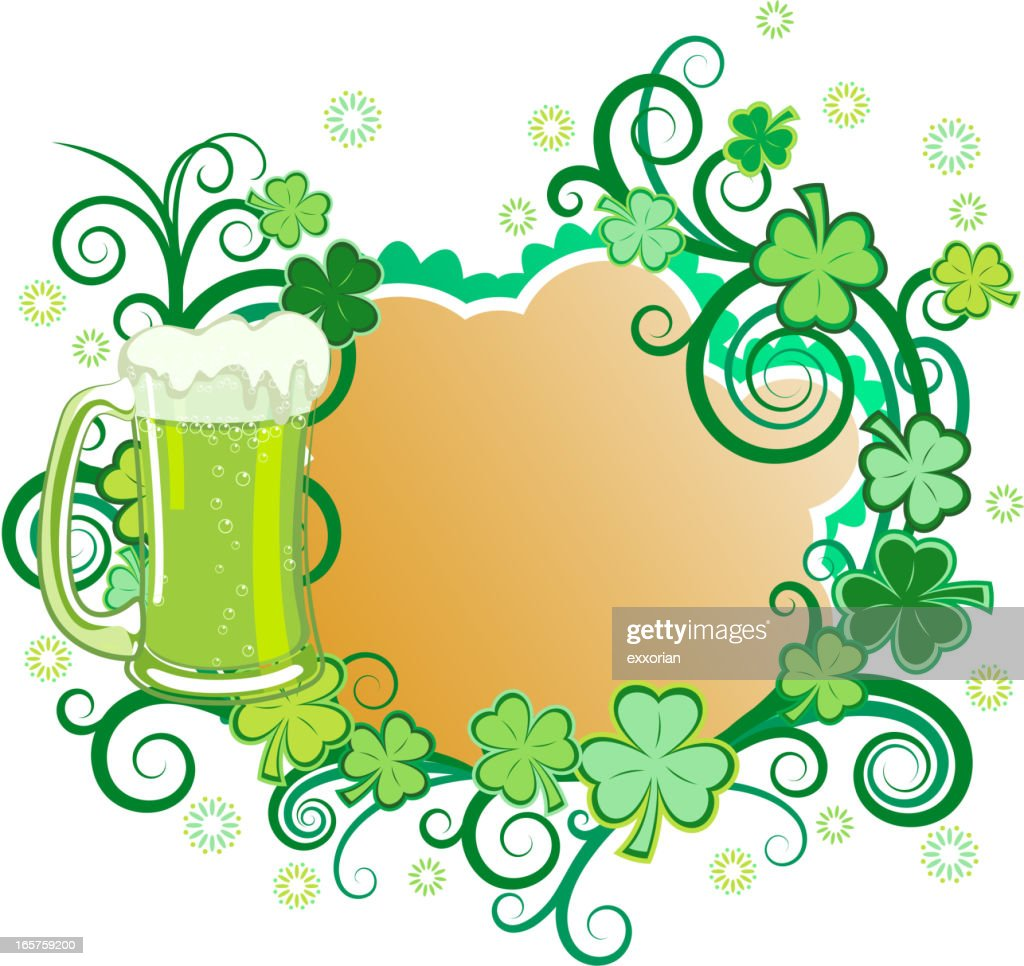 St Patricks Day Green Beer Frame Vector Art | Getty Images