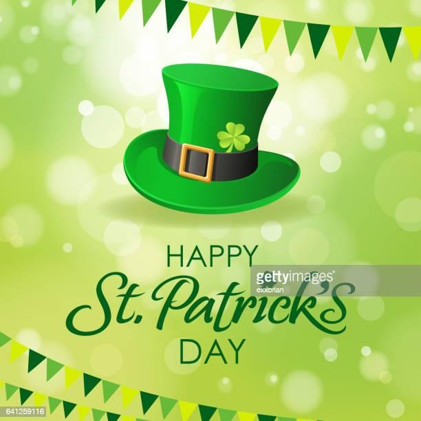 st. patrick's day leprechaun hat - st. patrick's day stock illustrations, clip art, cartoons, & icons