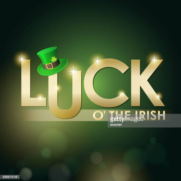 st. patrick's day luck of the irish - luck stock illustrations
