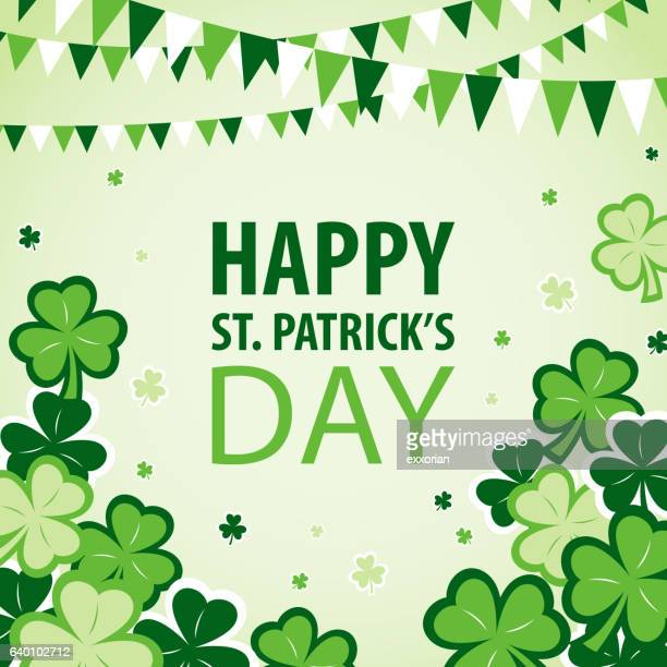 st patrick's day parade and celebration - st. patrick's day stock illustrations, clip art, cartoons, & icons