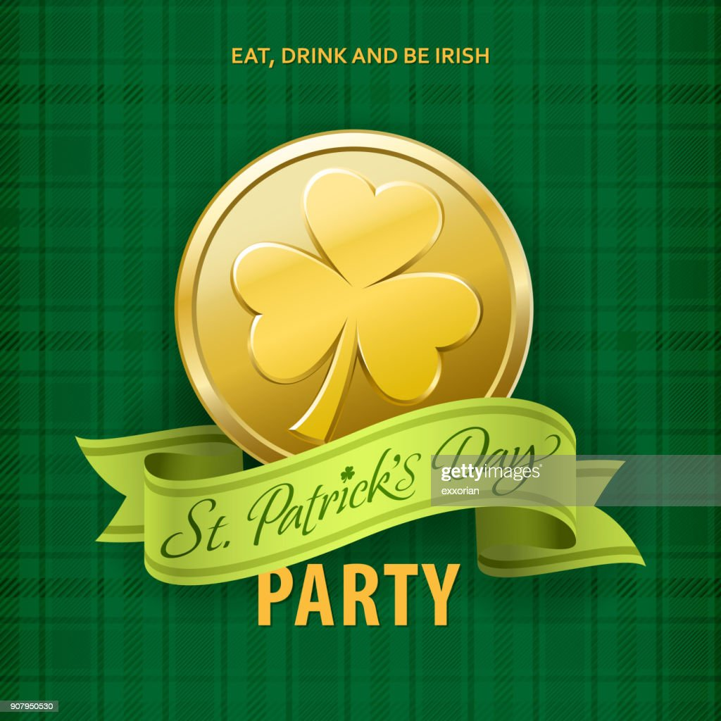St Patricks Day Party Invitations Vector Art | Getty Images