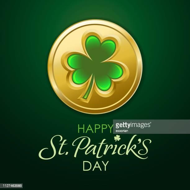 St Patrick's Day Shamrock Coin
