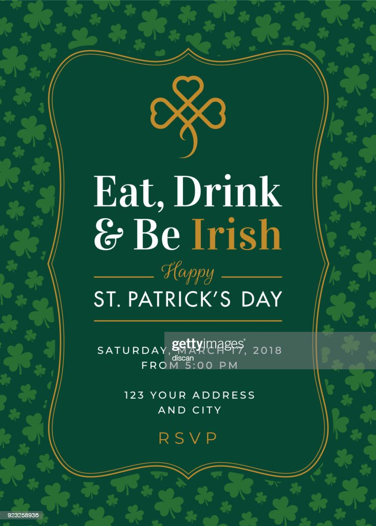 St patricks day special party invitation template vector art getty st patricks day special party invitation template vector art stopboris Choice Image