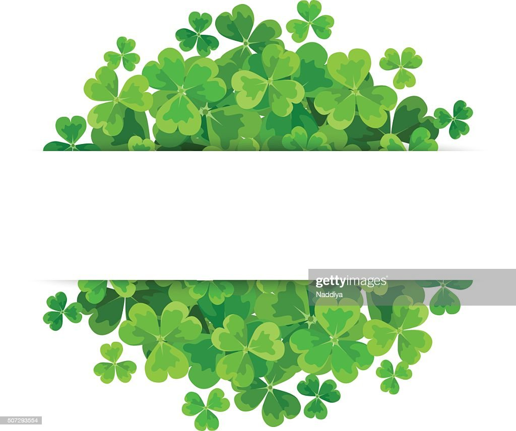 St. Patrick's day vector background with shamrock.
