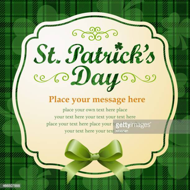 st patrick's messages - st. patrick's day stock illustrations, clip art, cartoons, & icons