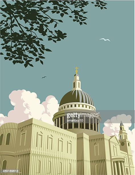 st paul's cathedral - st. paul's cathedral london stock illustrations