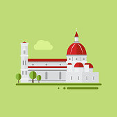 St. Peter Cathedral Vector Illustration