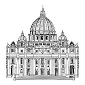 St. Peter's Cathedral, Rome, Italy.