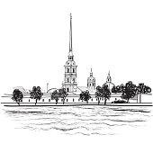 St. Petersburg landmark, Russia.