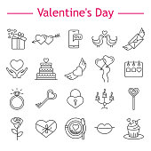 St. Valentine's Day icons.