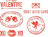 St. Valentine's Day love rubber stamps