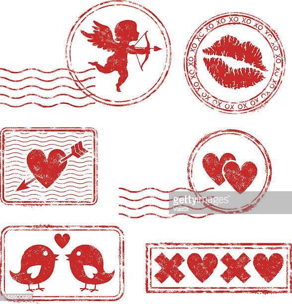 illustrations, cliparts, dessins animés et icônes de saint-valentin journée tampons en caoutchouc - cupidon and saint valentin