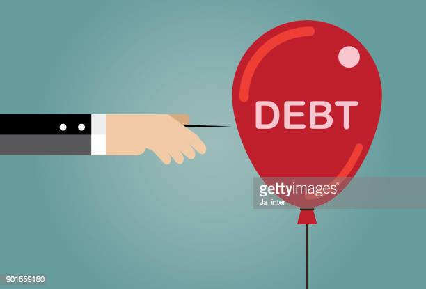 stab a debt bubble - salvation stock illustrations, clip art, cartoons, & icons