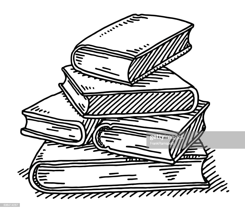 White Education Background Vector Vector Art Graphics: Stack Of Books Education Drawing Vector Art