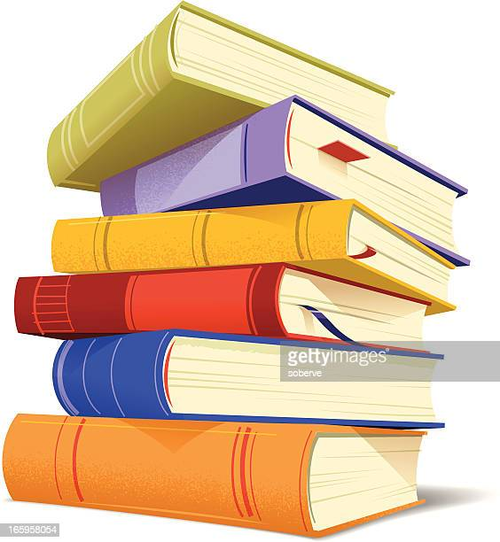 stockillustraties, clipart, cartoons en iconen met stack of books - boek