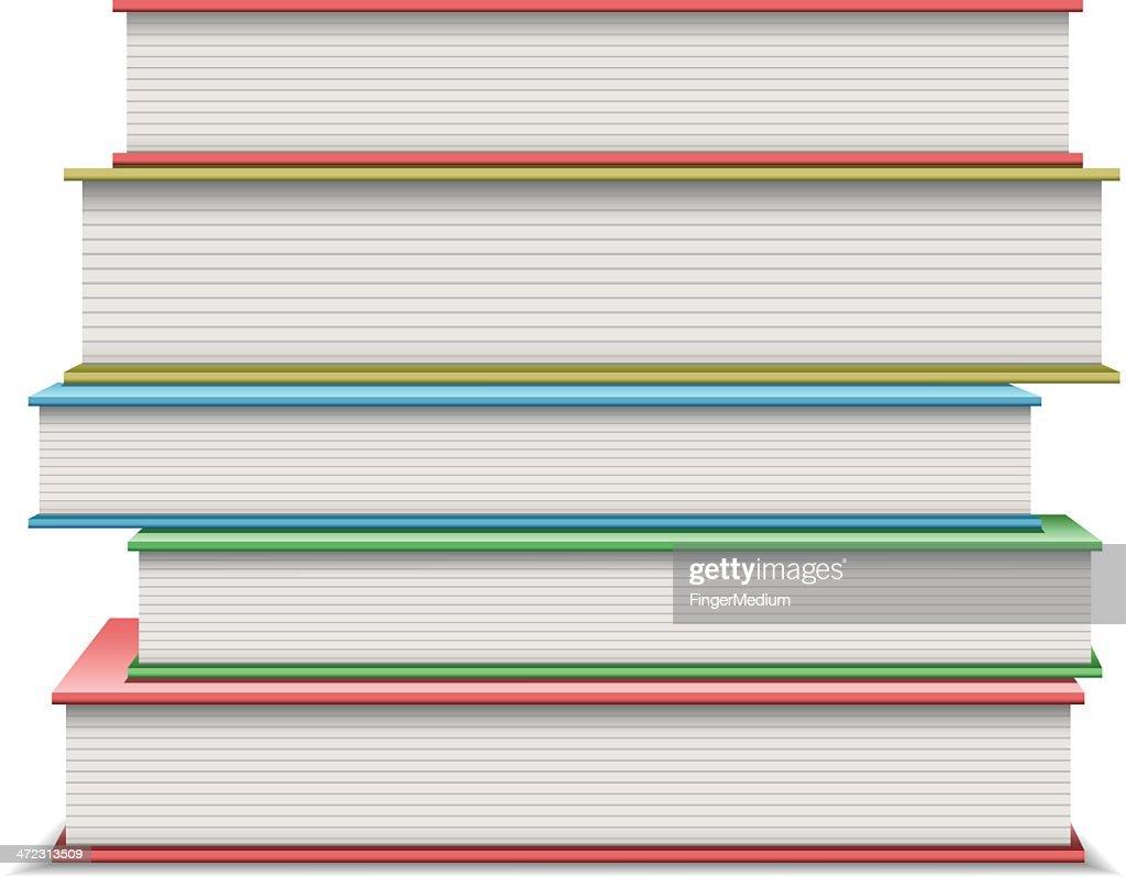 Pilha de livros : Ilustração