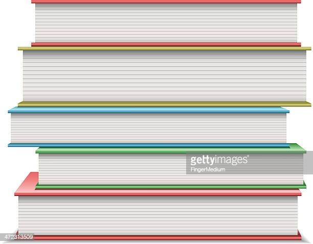 stack of books - side view stock illustrations