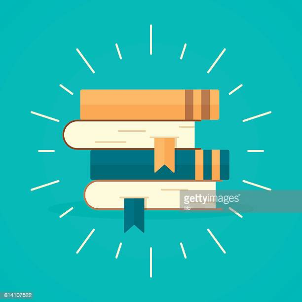 stack of books - book stock illustrations