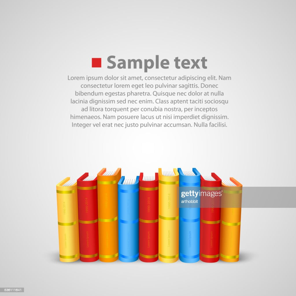 Stack of books. Vector