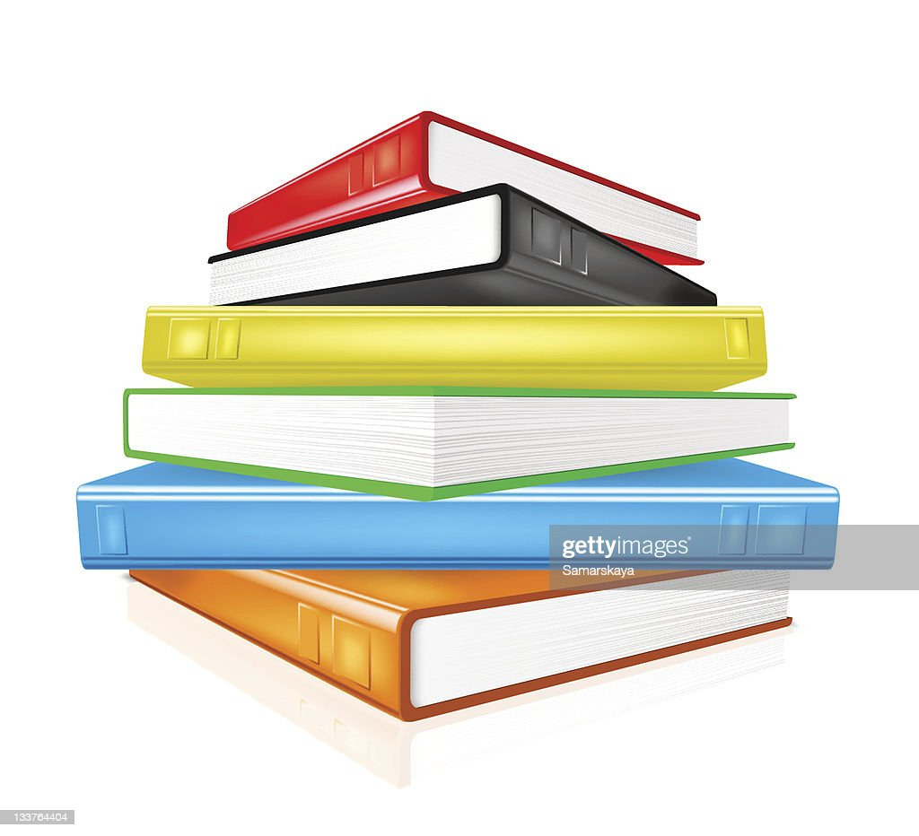 Pile De Livres Colores Illustration Getty Images
