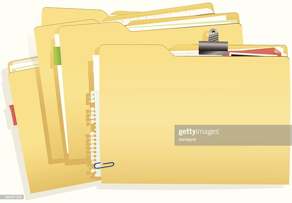 Stack of document folders