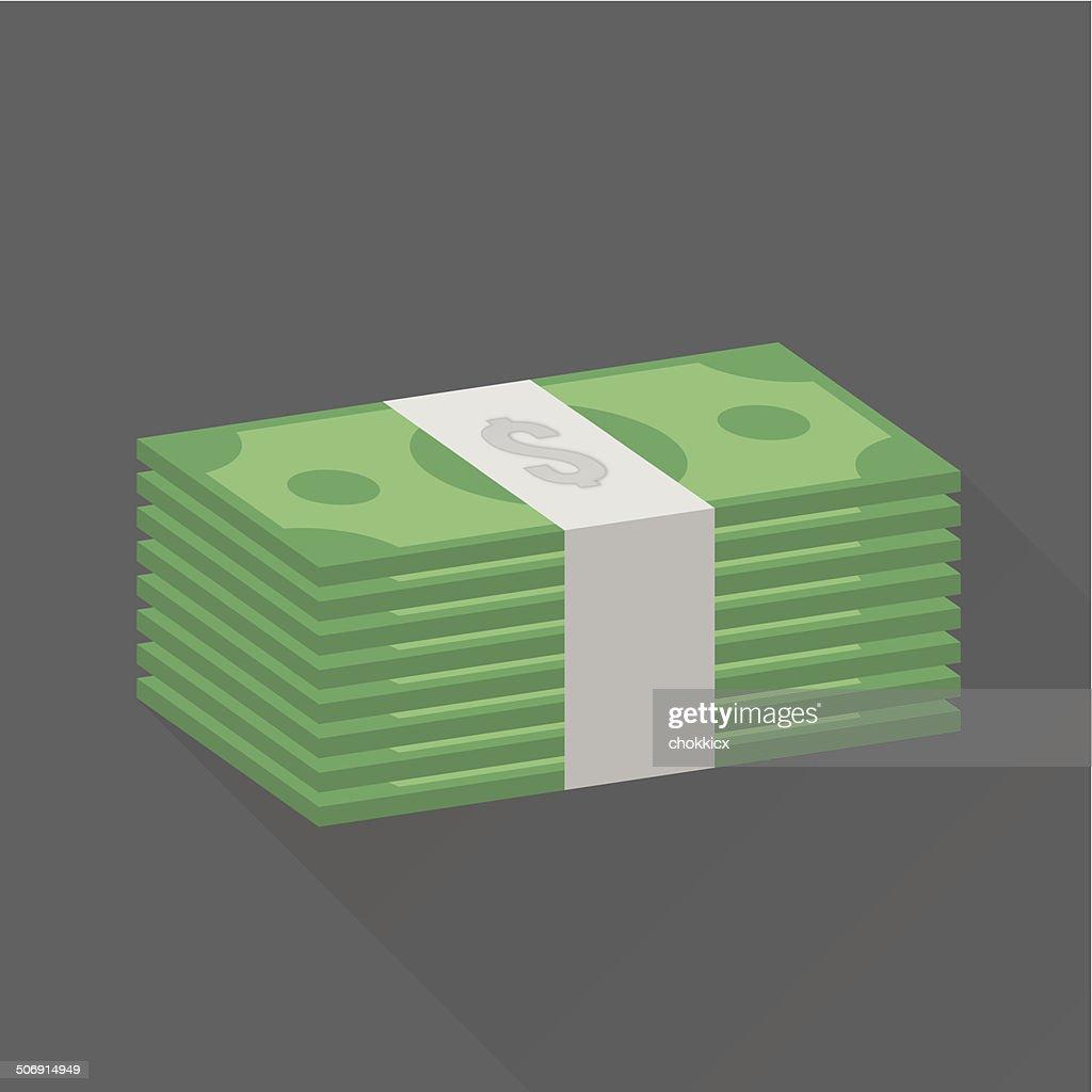 stack of dollar cash