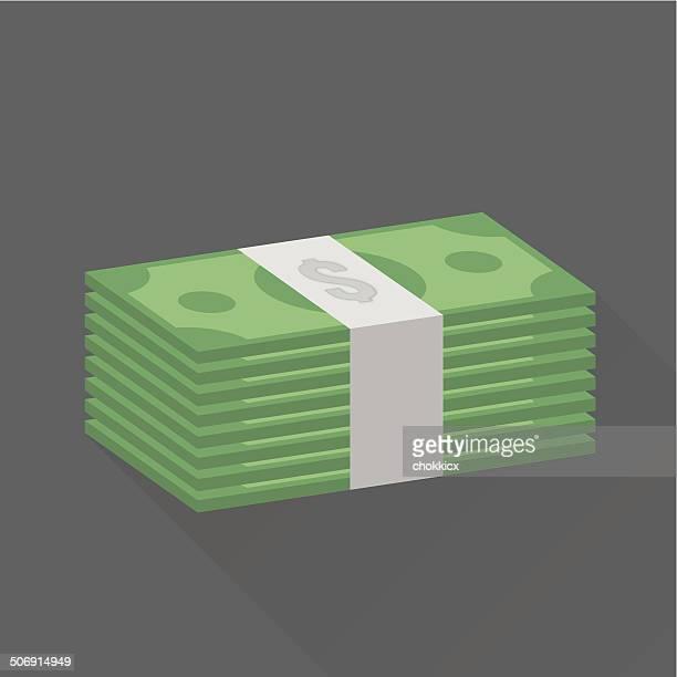 スタックのドルの現金
