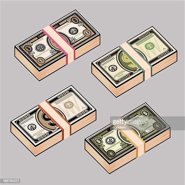 stack of money - cash flow stock illustrations, clip art, cartoons, & icons
