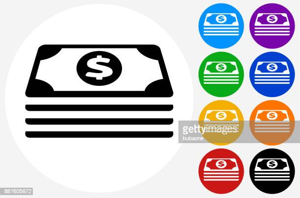 stack of money. - american one dollar bill stock illustrations, clip art, cartoons, & icons