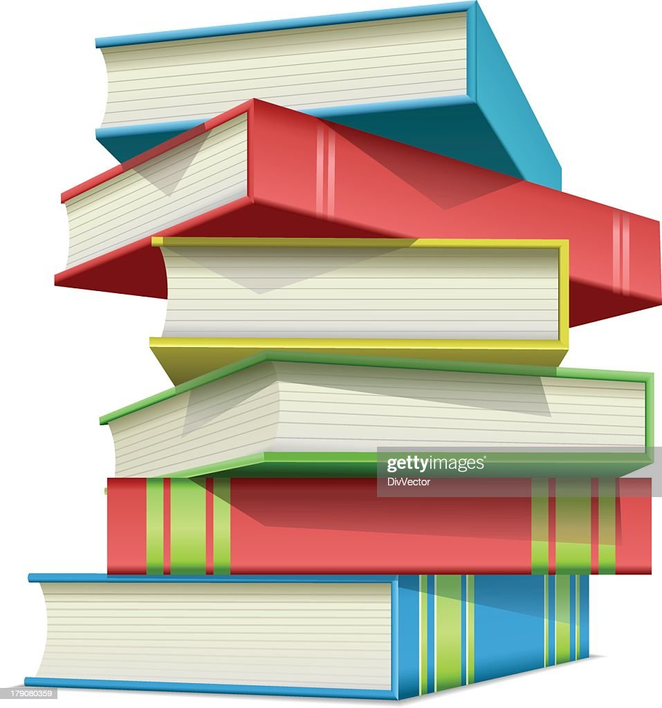 Stack Of Multi Colored Books Vector Art   Getty Images