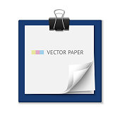 Stack of post it paper. Realistic vector notepaper. Reminder