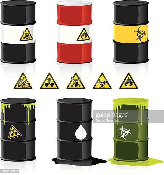 stackable barrels for example graphs - oil drum stock illustrations, clip art, cartoons, & icons