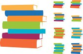 Stacked Books Vector Design Elements