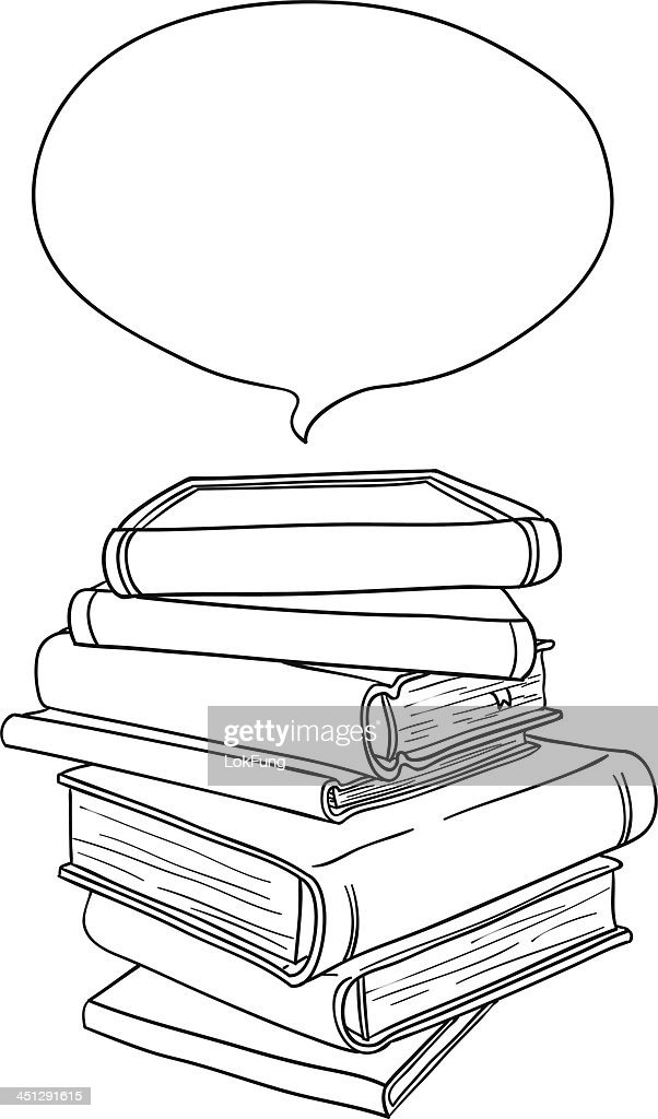Stacking books in black and white