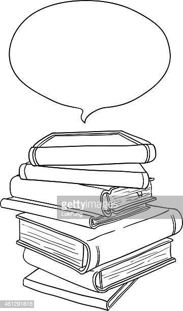 スタック書籍、ブラックおよびホワイト