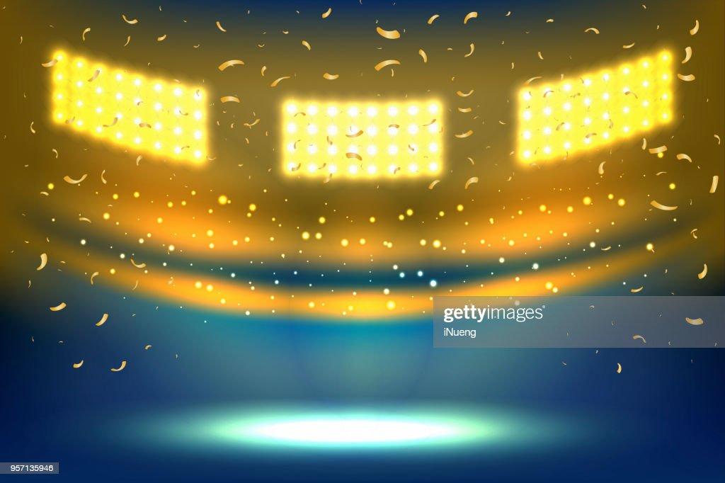 Stadium arena lights.