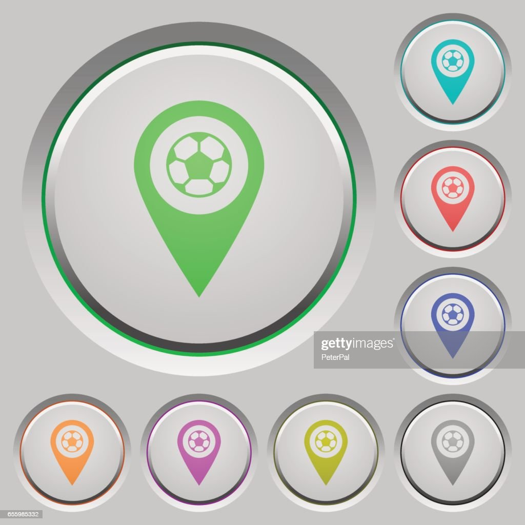 Stadium GPS map location push buttons