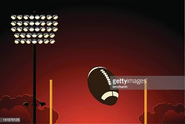 光のフットボールスタジアム - アメリカンフットボールのフィールドゴール点のイラスト素材/クリップアート素材/マンガ素材/アイコン素材