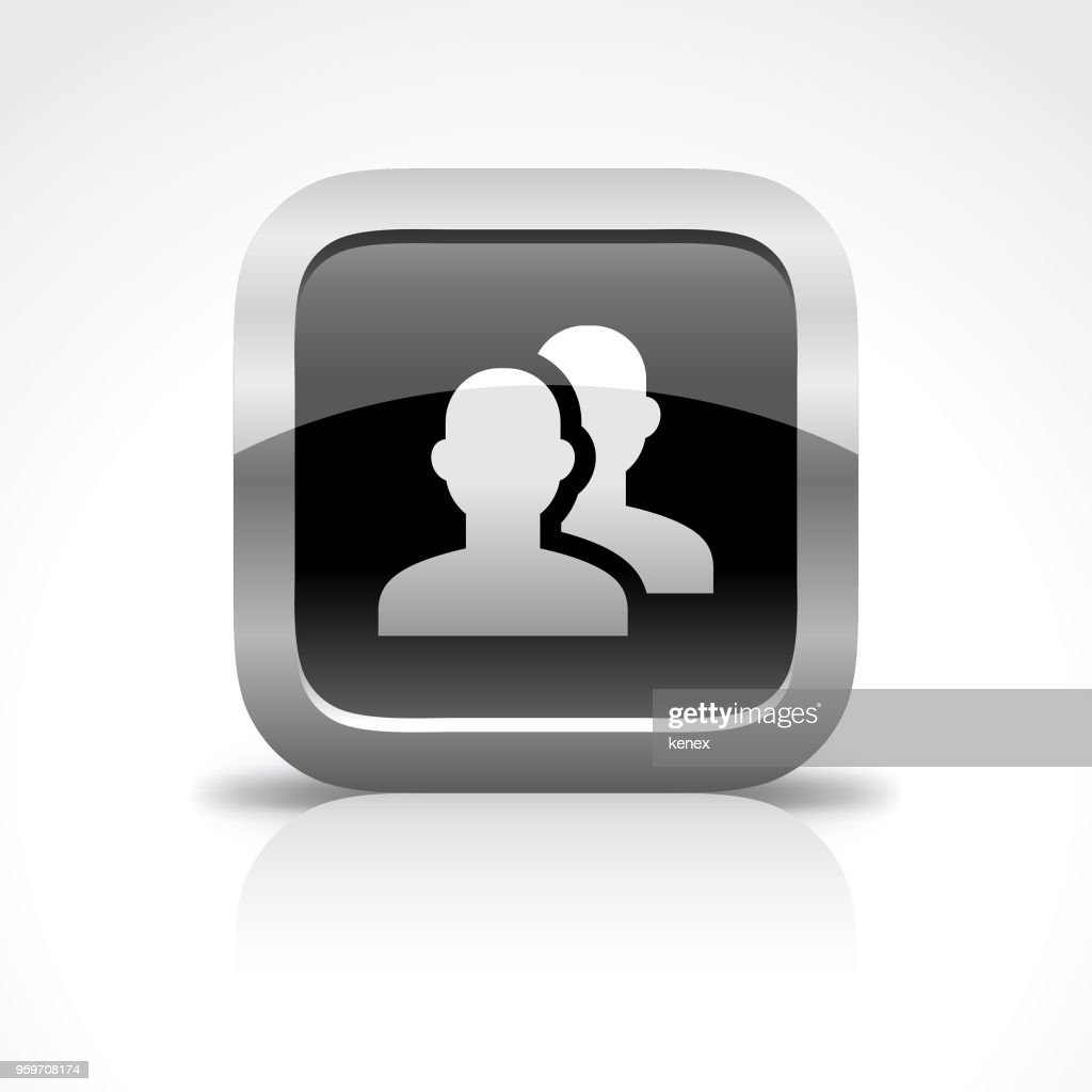 Personal und Profil Hochglanz Schaltflächensymbol : Stock-Illustration