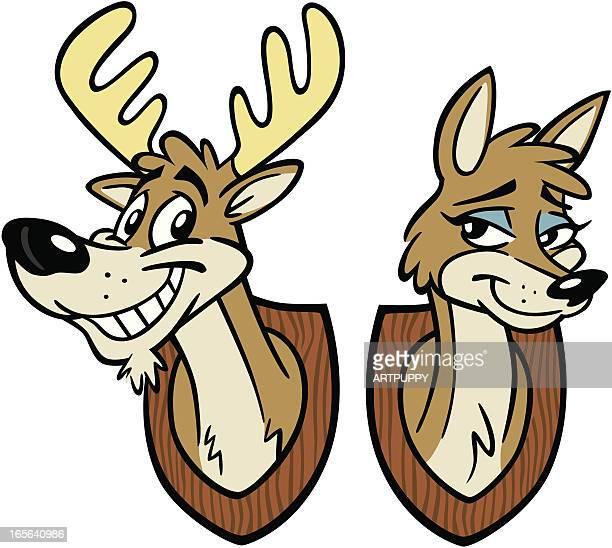 illustrations, cliparts, dessins animés et icônes de cerf et doe - biche
