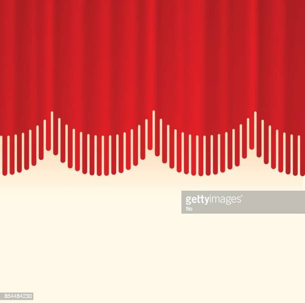 stage curtain border concept - fashion show stock illustrations