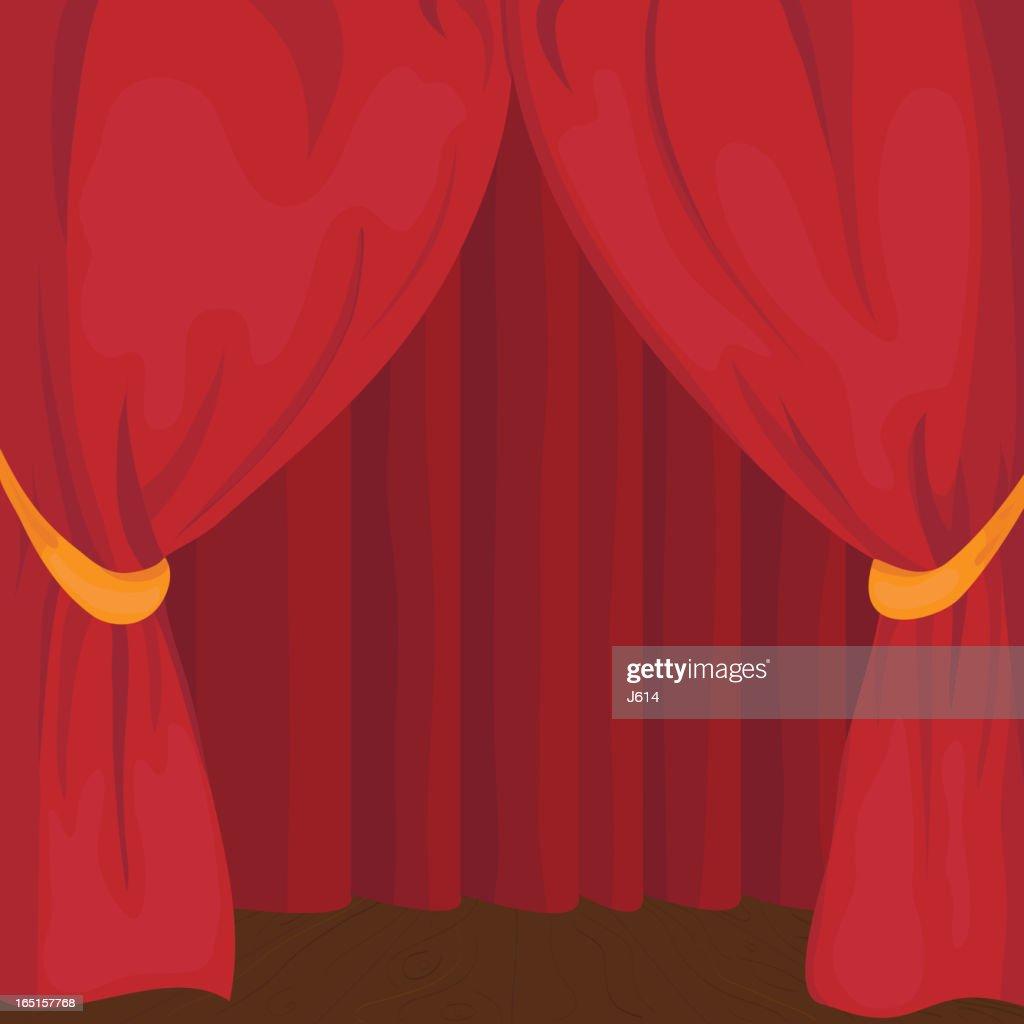 Stage curtain : stock illustration