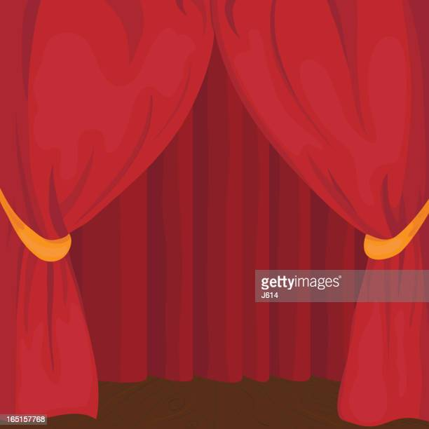 stage curtain - classical theater stock illustrations, clip art, cartoons, & icons