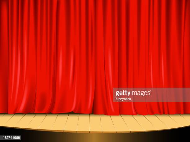 stage curtain - closing stock illustrations, clip art, cartoons, & icons