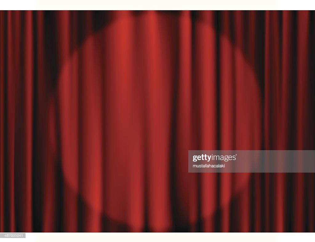 Stage curtain with spot light : stock illustration