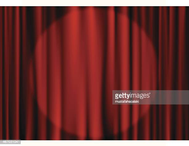 Stage curtain with spot light